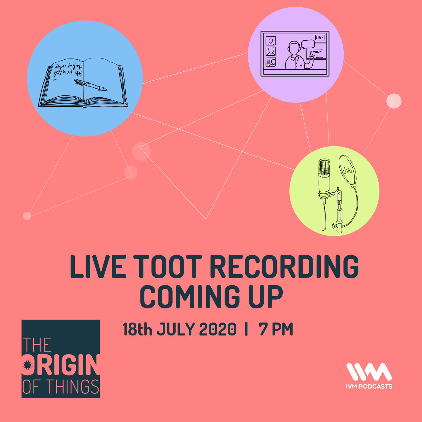 Live TOOT recording coming up: 18 July, 7 PM IST